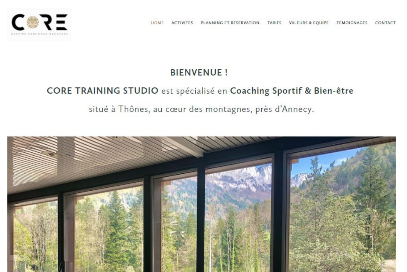 site-web-core-training-studio